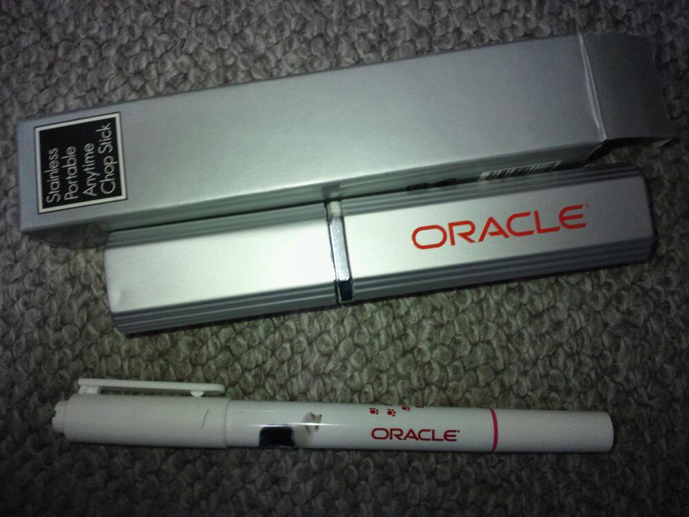 オラクル,蛍光ペンとボールペン,携帯箸